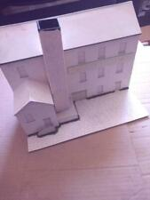 More details for o gauge building - card built low relief factory/warehouse