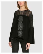 Desigual T-shirt Manica lunga Donna TS Neusifu 17wwtk13 XS Nero Non applicabile