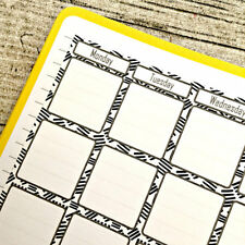 Month at a glance doodle two page journal calendar, Bullet calendar, #1013