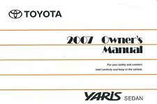 2007 Toyota Yaris Sedan Owners Manual User Guide Reference Operator Book Fuses