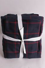New Pottery Barn PB Teen Boxter queen sheet set navy red