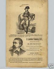 1878 PAPER AD George Washington Took Command Army 1775 Dr Flemming Philadelphia