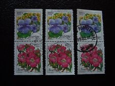 SUEDE - timbre yvert et tellier n° 2043 2044 x3 obl (A29) stamp sweden (G)