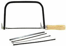 "6"" Coping / Fret Saw Wood  Handle Steel Metal Frame With 5 Blades"