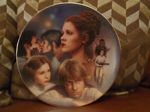 Star Wars  Hamilton Collection Princess Leia Organa General Plate not statue