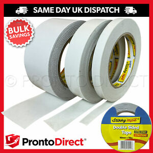 Double Sided Tape Clear Sticky DIY Strong Craft Adhesive 12mm 25mm 50mm 33M REEL