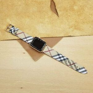 Handmade Burberry Apple watch band Series 6,5,4,3,2
