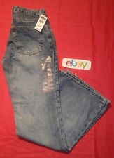 NEW NWT ! Women's Old Navy Flare distressed Blue Jeans sz 4 Reg