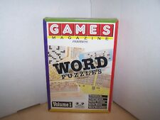 GAMES MAGAZINE WORD PUZZLES VOLUME 1 - VINTAGE SOFTWARE  1994 - NEW SEALED