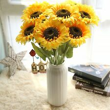 Artifical Sunflowers Silk Floral Single Fake Flowers Stem Home Decor Bouquet