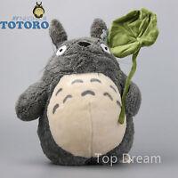 Studio Ghibli My Neighbor Totoro Holding Leaf Plush Toy Soft Stuffed Doll 15''