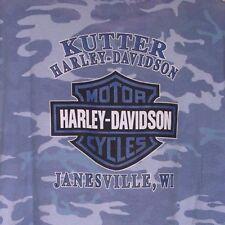 HARLEY-DAVIDSON LOGO T-SHIRT/KUTTER HD-JANESVILLE, WISCONSIN/SIZE 2XL/BLUE CAMO