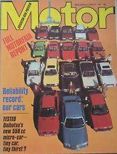 Motor magazine 31/10/1981 featuring Daihatsu Domino road test