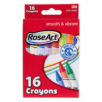 Rose Art 16 Count Smooth And Vibrant Crayons NEW Supplies Crafts