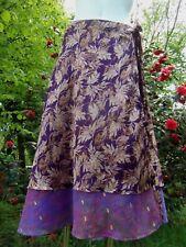Magnifique Jupe 3/4 portefeuille,double sari, hippie,nomade, rajasthan inde