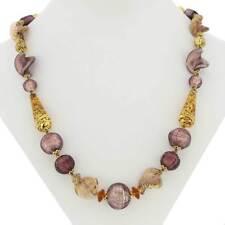 GlassOfVenice Murano Glass Necklace Splendor - Purple and Gold