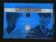 MARTINEZ / JOHNSON 2015 COOPERSTOWN ETCHED IN SAPPHIRE PARALLEL #02/10 AB6431