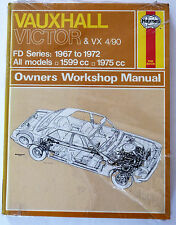 New (sealed) Vauxhall Victor & VX 4/90 Manual FD Series: 1967 to 1972,All Models