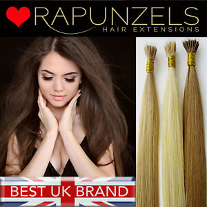 Nano tip nano ring bead hair extensions Rapunzels Luxury remy human hair 1G