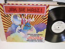 HAPPY LOUIE AND JULCIA Jak Sie Masz! LP Halo SHL-5026 SIGNED Vinyl Album Polka