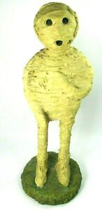 THE MUMMY Monster Handmade Statue Halloween Plaster Cloth Wrapped Wood Wire VTG
