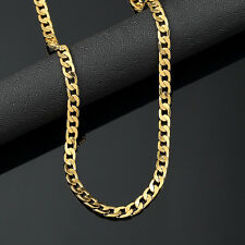 Mens 18K Yellow Gold Plated 20in Cuban Chain Necklace 4.7 MM