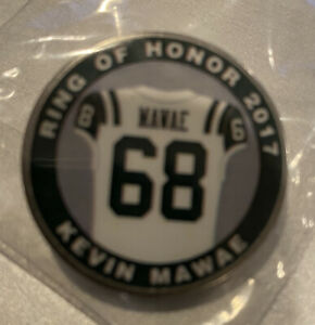 Kevin Mawae Ring of Honor 2017 Pin, Towel and Playbook  New York Jets