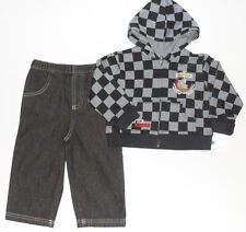 Size 18 Months - Mayfair Baby Boys Jeans pant & Racing Motocross Hoodie Jacket