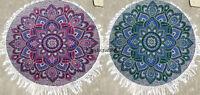 2Indian Round Mandala Beach Throw Hippie YogaMat Towel Bohemian Tapestry Roundie