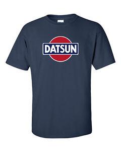 DATSUN Navy Retro Logo T-Shirt 240z 260z 280z ZX 510 Fairlady CLASSIC Tee S-5XL