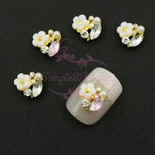 Resin Sakura Eye Horse Shape Rhinestones Cluster Alloy Charms Nail Art Jewelry