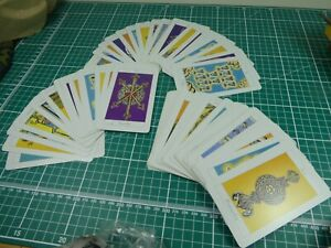 Vintage Pack of Tarot cards, unusual, used. Full pack of 78.