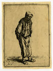 Antique Print-GENRE-STANDING MAN-Ostade-ca. 1640