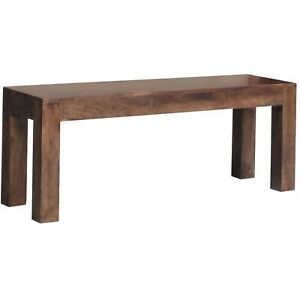 Wooden Bench Small made from Mango Wood in a Dark Brown Finish