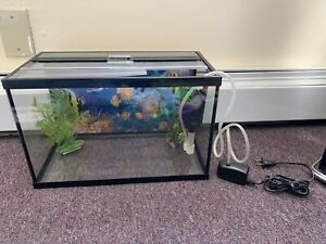 Fish Tank With 3 Plants/Accessories - 3 Gallons