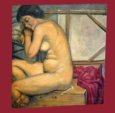 "Original Oil Painting Resting Nude Model ""Tamara"" by Snowden Hodges (Sho)"