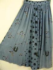 SK293 #1~TIENDA HO~Blue~RAYON CIRCLE SKIRT~Indian~Embroidery~OS~M-1X?