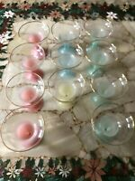 VTG MCM West Virginia Glass Blendo Frosted Margarita Cocktail Glasses PER GLASS