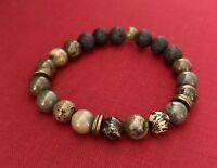Essential Oil Diffuser Bracelet Jasper Beads Aromatherapy Lava Rock Stones