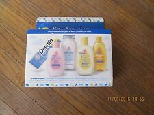 Johnson's tiny traveler baby gift set 5 Items ORIGINAL Wash bathroom Shampoo