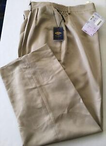 NWT Callaway Womens Microfiber Tan/Khaki/Sand Golf Pants Sz 18/2X From Nordstrom