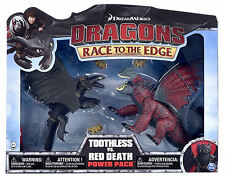 DREAMWORKS DRAGONS tren YOUR DRAGON TOOTHLESS HOW TO vs. Battle Pack Rojo DEATH