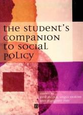 The Student's Companion to Social Policy,Pete Alc*ck, Angus Er ,.9780631202400