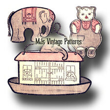 Vintage Noahs Ark Elephant Teddy Bear Pattern