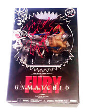WWE REY MYSTERIO JR HAND SIGNED UNMATCHED FURY AUTOGRAPHED TOY WITH COA RARE