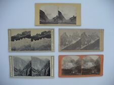 GROUP EARLY SWITZERLAND SWISS ALPS STEREOVIEW CARD PHOTOS GLACIERS MONT BLANC