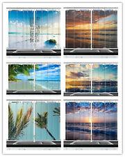 Holiday Beachfront Sunrise Kitchen Curtains 2 Panel Set Decor Window Drapes