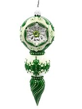 New ListingPatricia Breen Bedazzling Reflector Green Tracery Christmas Tree Ornament
