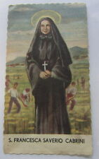 canivet santino holy card  immaginetta sacra Santa Francesca Saverio Cabrini