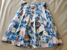 DOTTI Floral Size 6 Women's Skirt Pleats 99c Auction